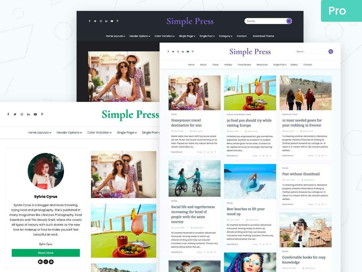 Simple Press Pro